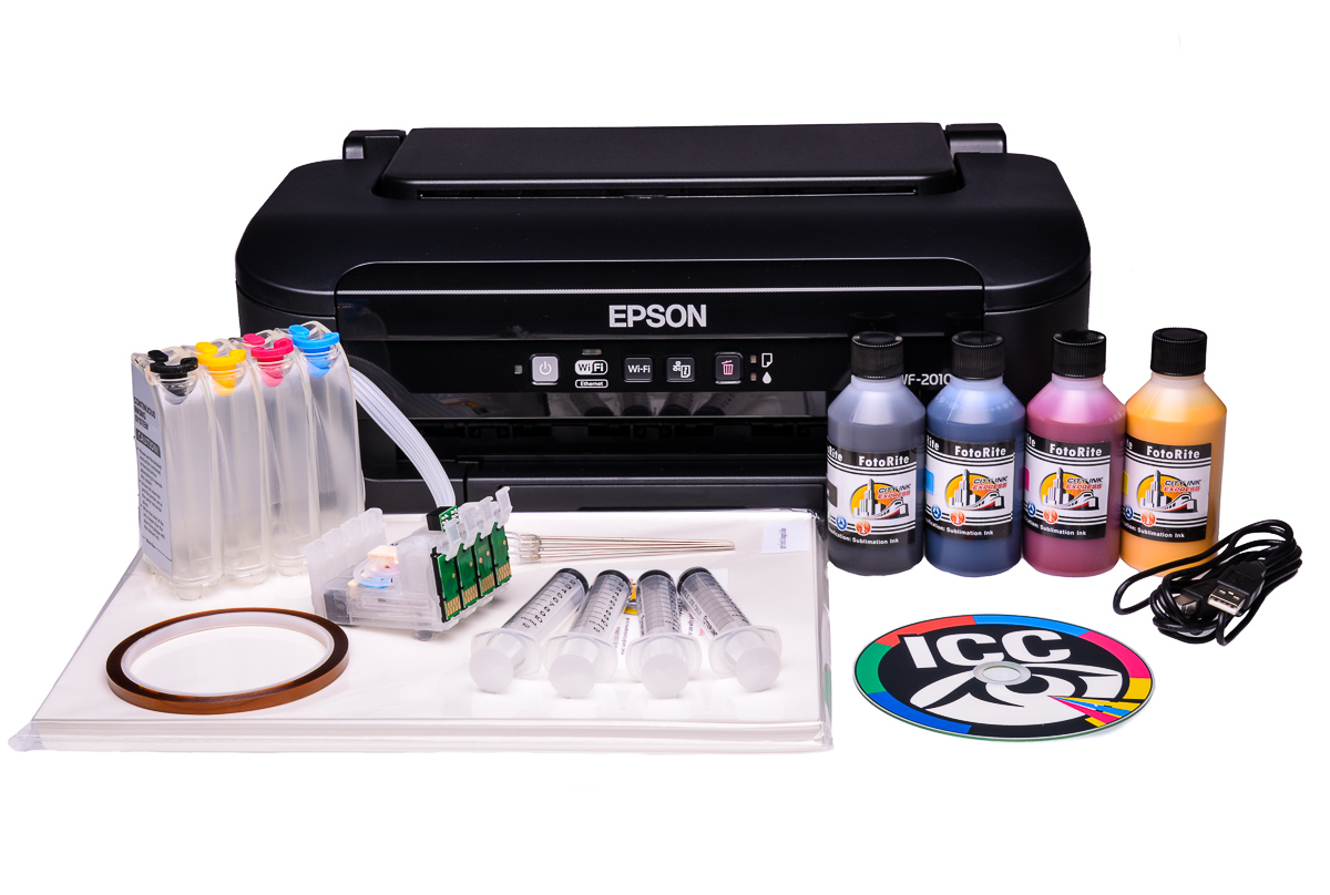 Epson Wf 2010w A4 Sublimation Printer And Heat Transfer