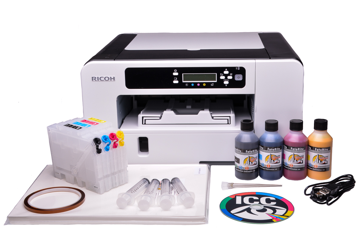 Ricoh Aficio Sg3110dn Sublimation Ink Printer Bundle With