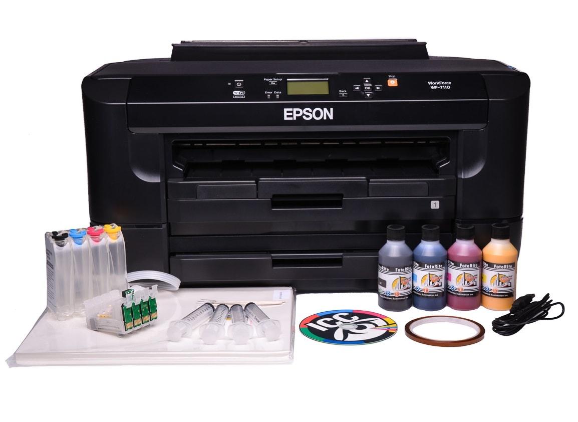 Epson 7110 Dtw Sublimation Ink Printer Bundle With Ciss