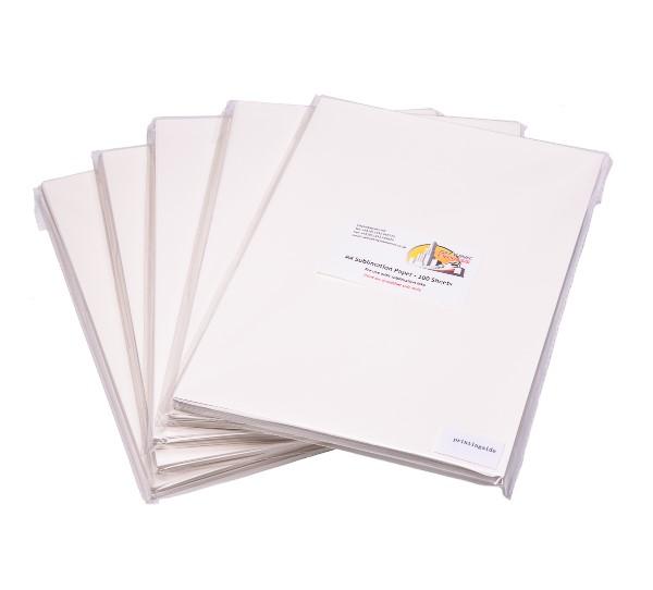 100 Sheets A4 Sublimation Paper