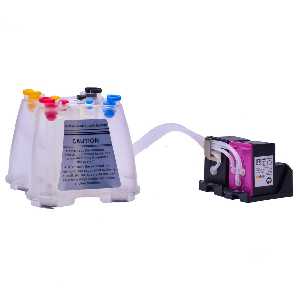Ciss for HP Officejet 3840 e-All-in-One, dye and pigment ink #2
