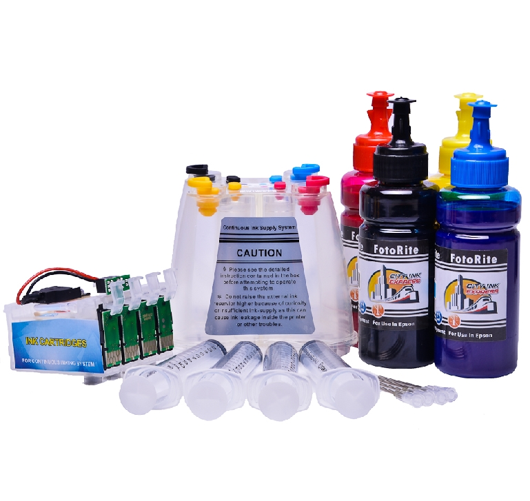 Ciss for Epson WF-3720DWF, pigment ink
