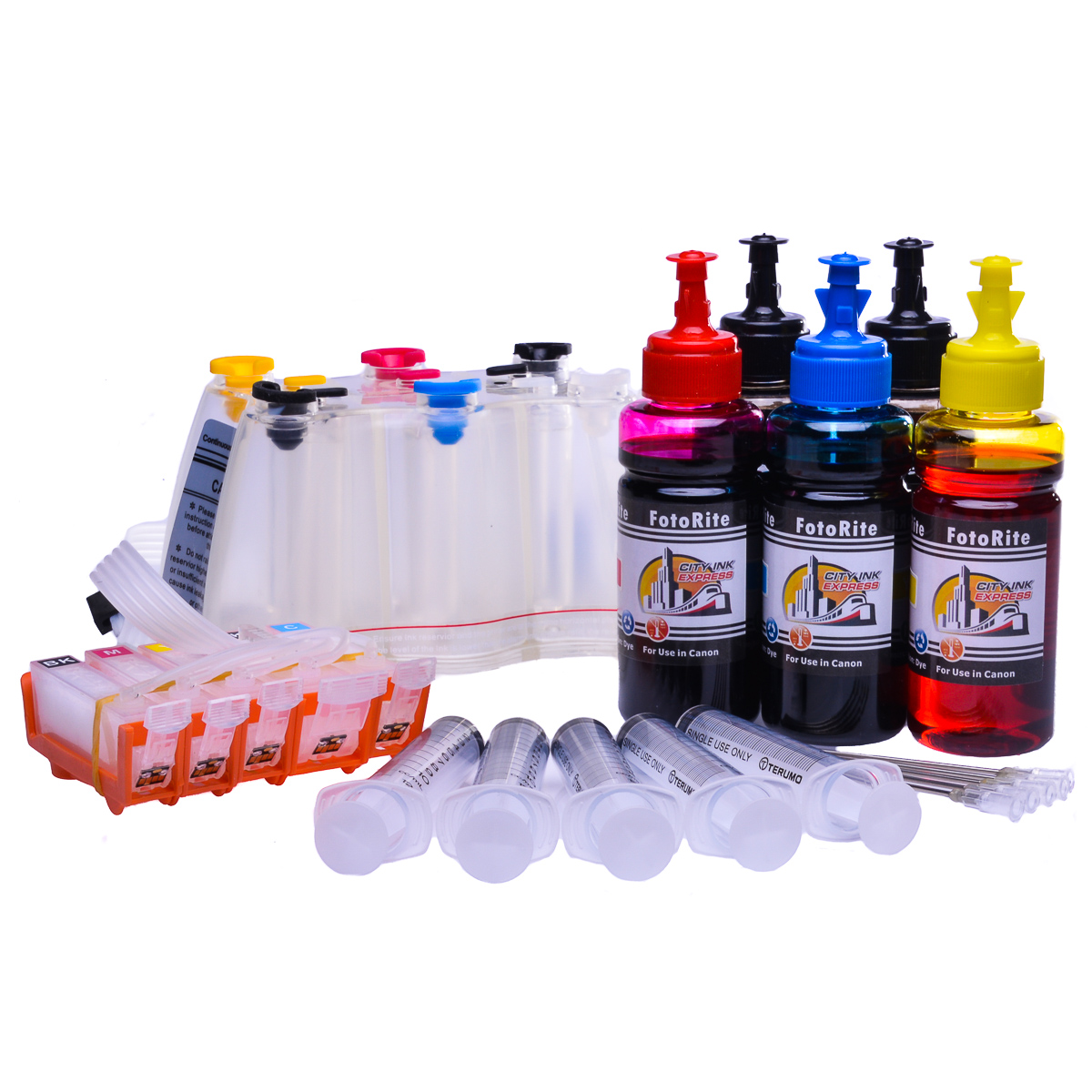 Ciss for Canon IX6550, dye and pigment ink
