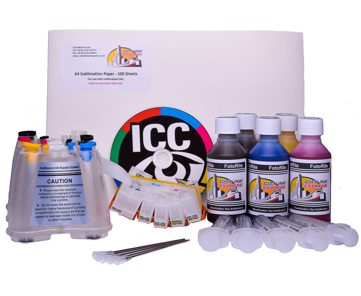 Dye Sublimation ink system - Fits Epson XP-700 Printer