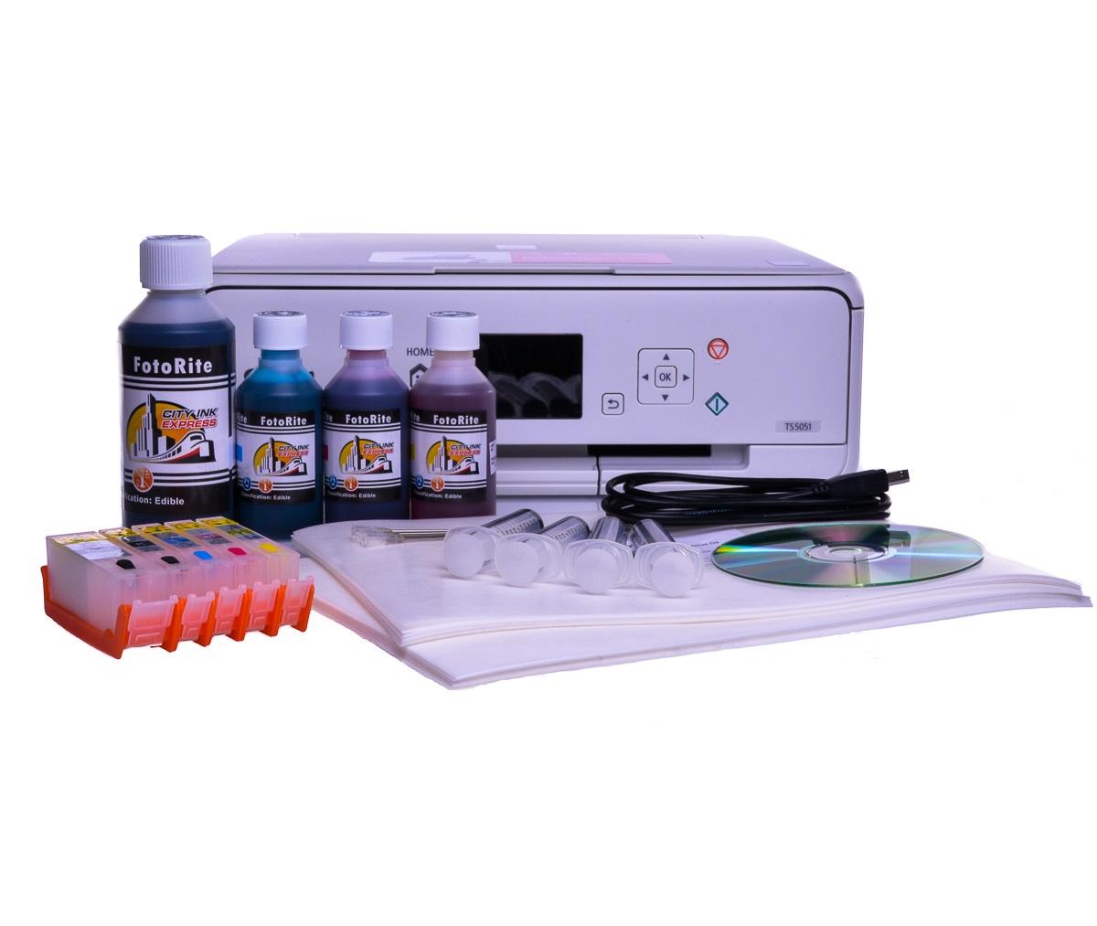 Canon TS5051 Edible ink printer -  Edible starter kit 50 wafer