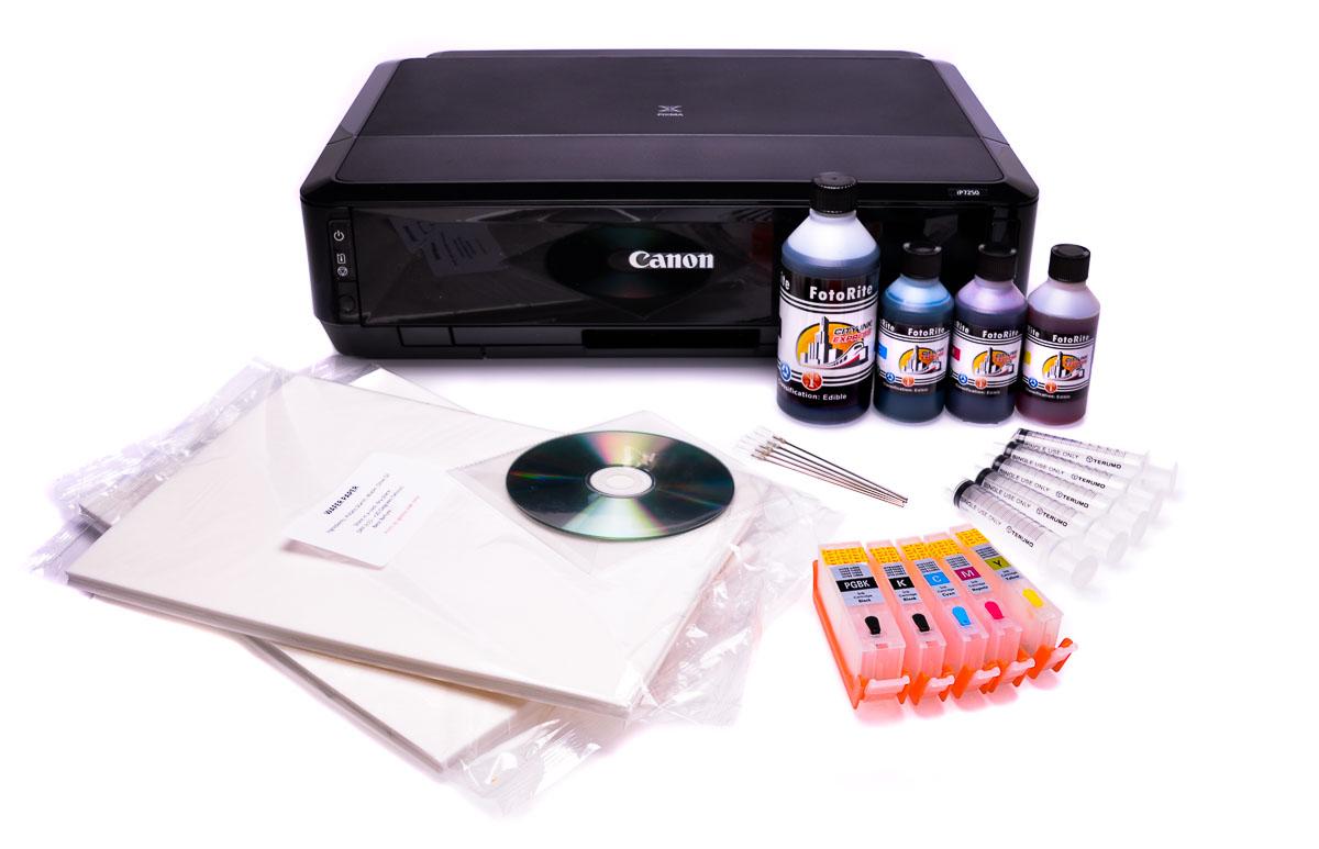 Canon IP7250 Edible ink printer -  Edible starter kit 50 wafer