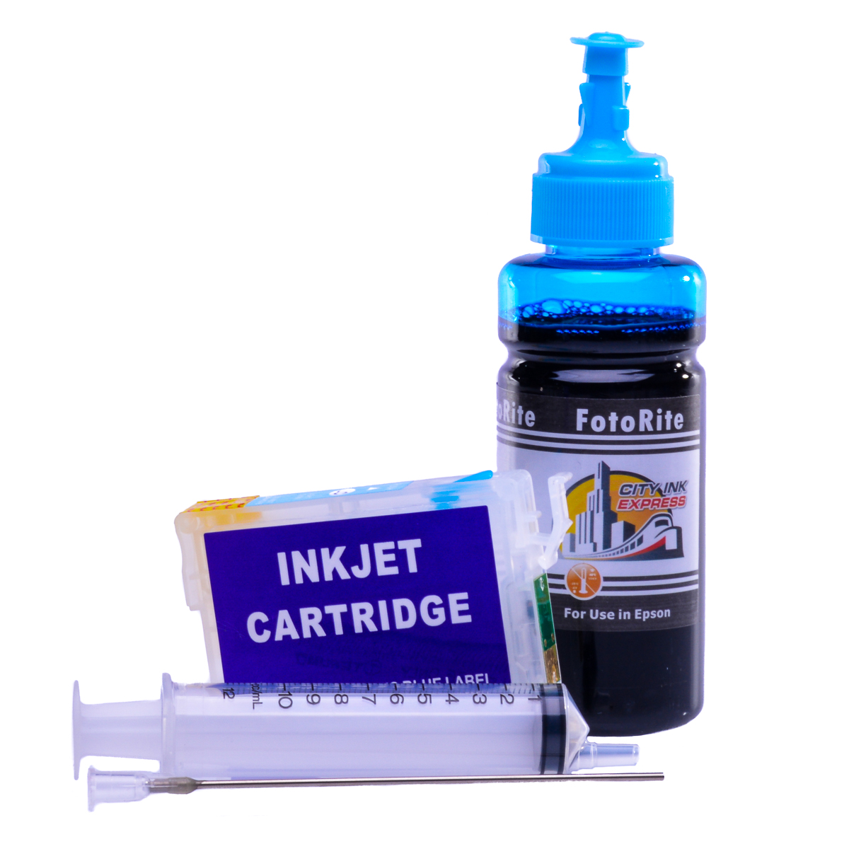 Refillable T0805 Light Cyan Cheap printer cartridges for Epson Stylus RX585 C13T08054010 dye ink