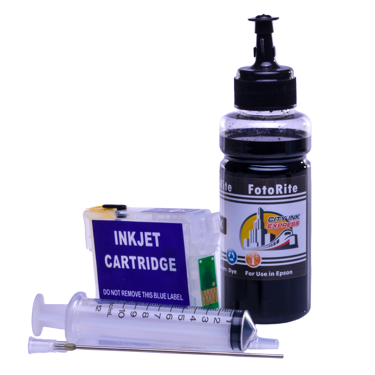 Refillable T0801 Black Cheap printer cartridges for Epson Stylus PX820FWD C13T08014010 dye ink