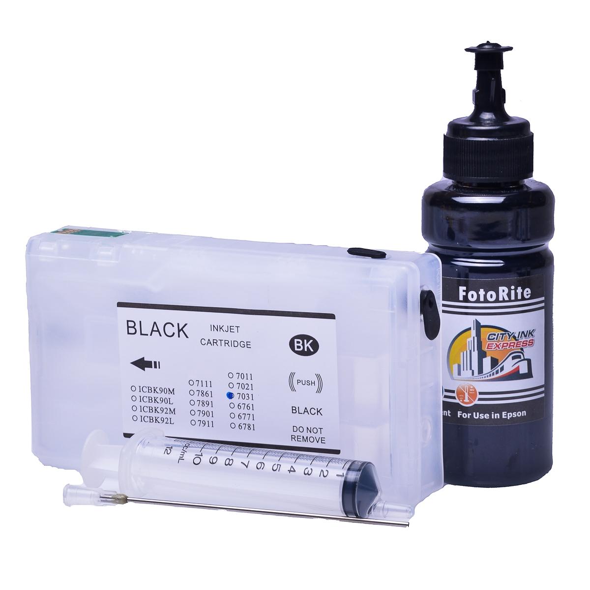 Refillable pigment Cheap printer cartridges for Epson WP-4025DW C13T70314010 T7031 Black