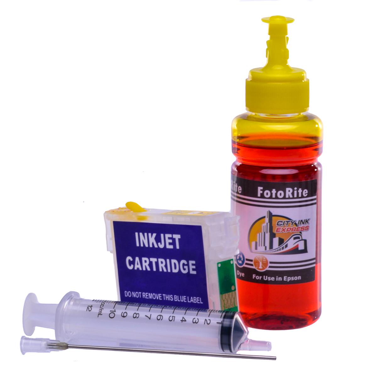 Refillable T1814 Yellow Cheap printer cartridges for Epson XP-402 C13T18144010 dye ink