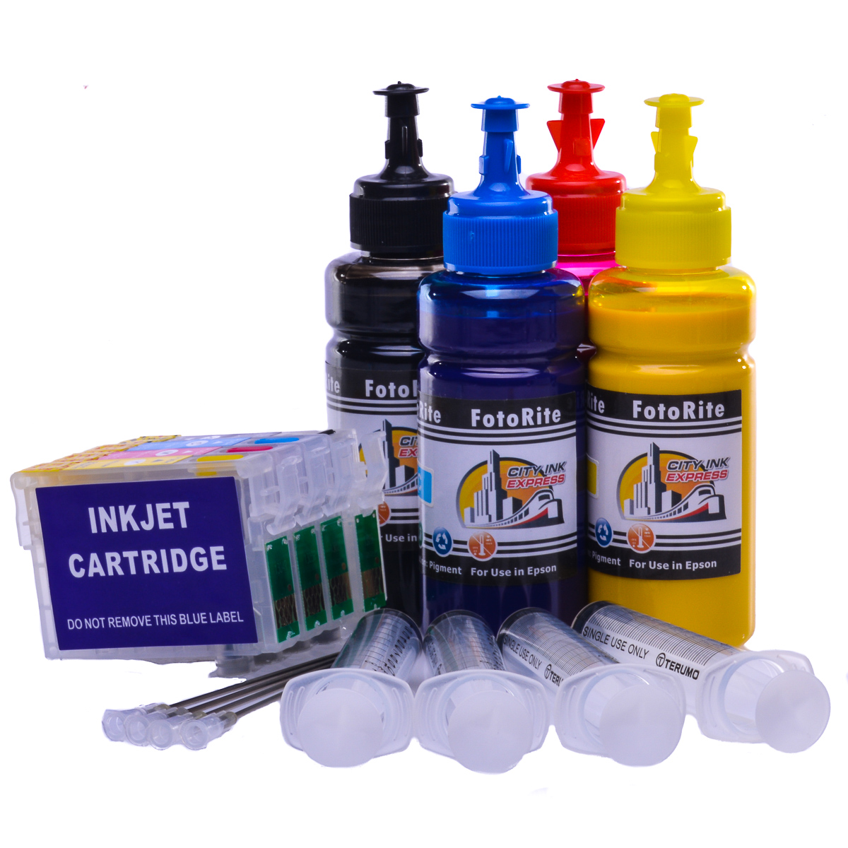 Refillable pigment Cheap printer cartridges for Epson WF-2530wf C13T16364010 T1636 Multipack