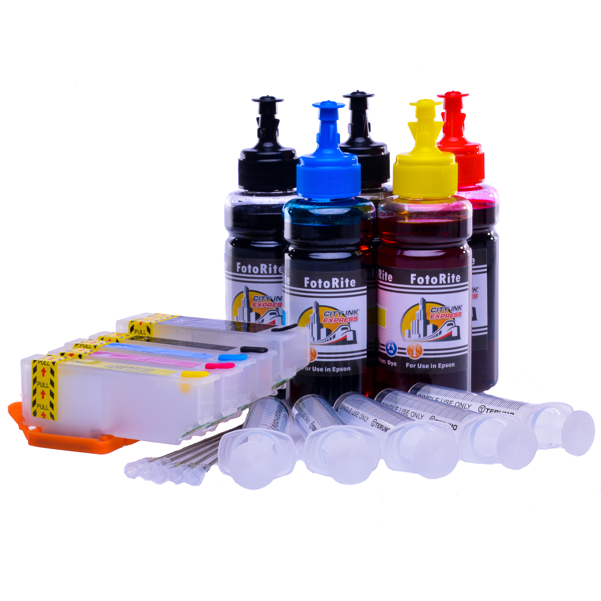 Multipack Cheap printer cartridges for Epson XP-610 | Refillable dye and pigment ink