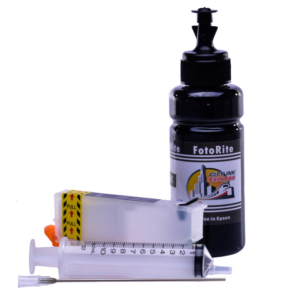 Refillable T2431,T2421 Black Cheap printer cartridges for Epson XP-750 C13T24314010 dye ink