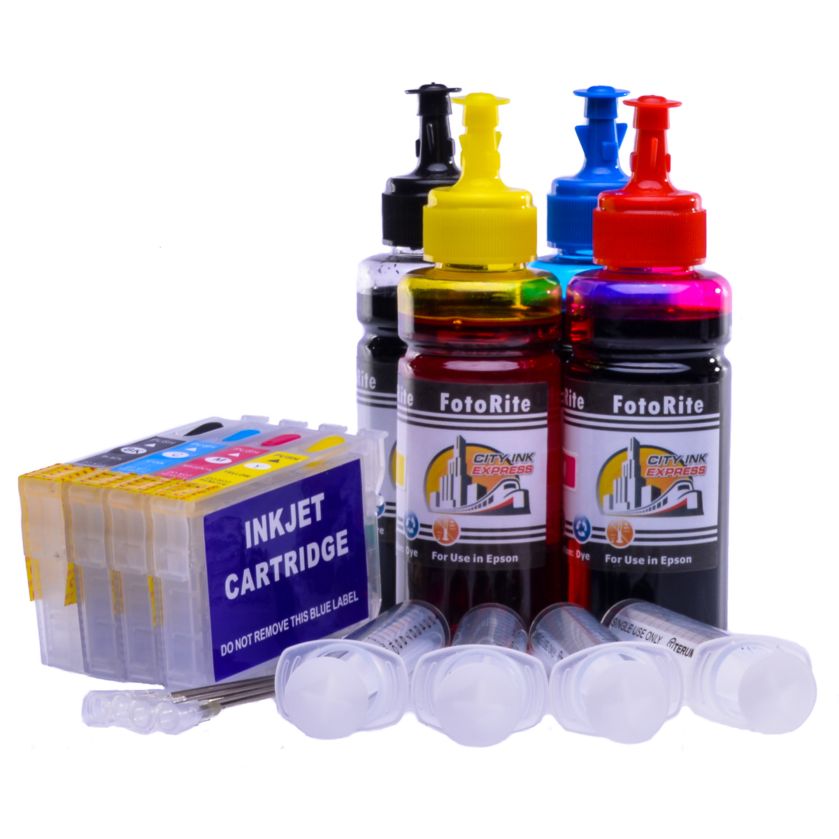 Multipack Cheap printer cartridges for Epson XP-212 | Refillable dye and pigment ink