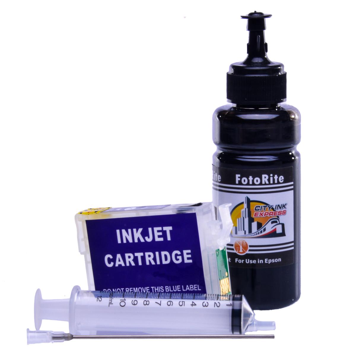 Refillable pigment Cheap printer cartridges for Epson XP-212 C13T18114010 T1811 Black