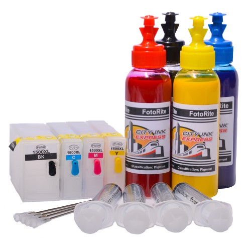 Refillable pigment Cheap printer cartridges for Canon MB2150  PGI-1500XL BK/C/M/Y Multipack