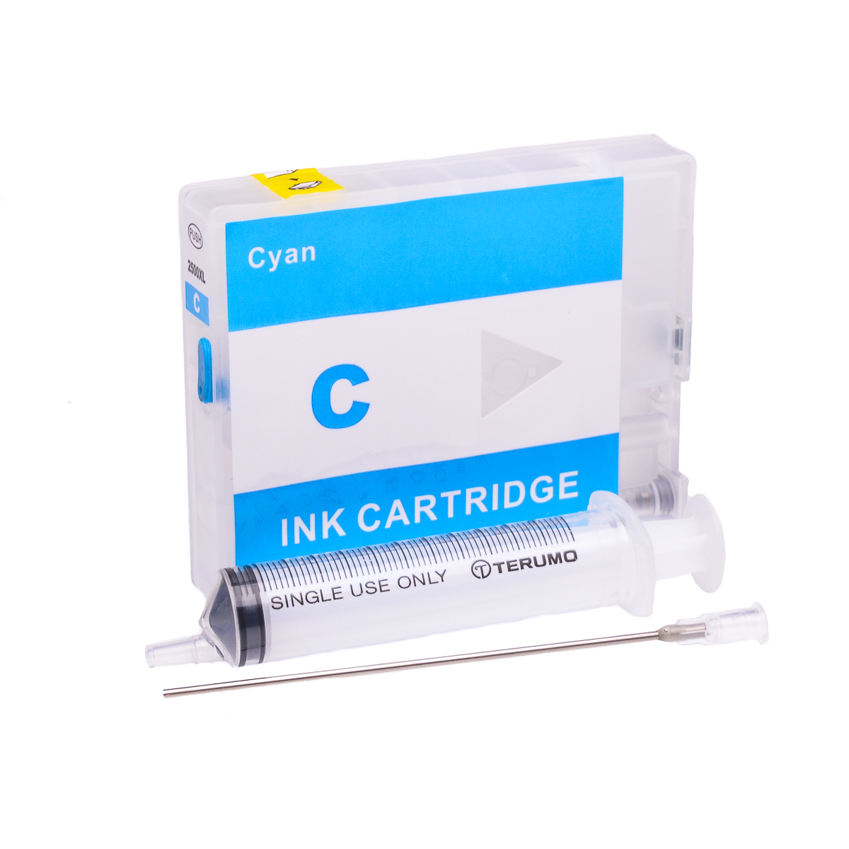 Empty Refillable PGI-2500XL-C Cyan Cheap printer cartridges for Canon MB5050 9265B001AA