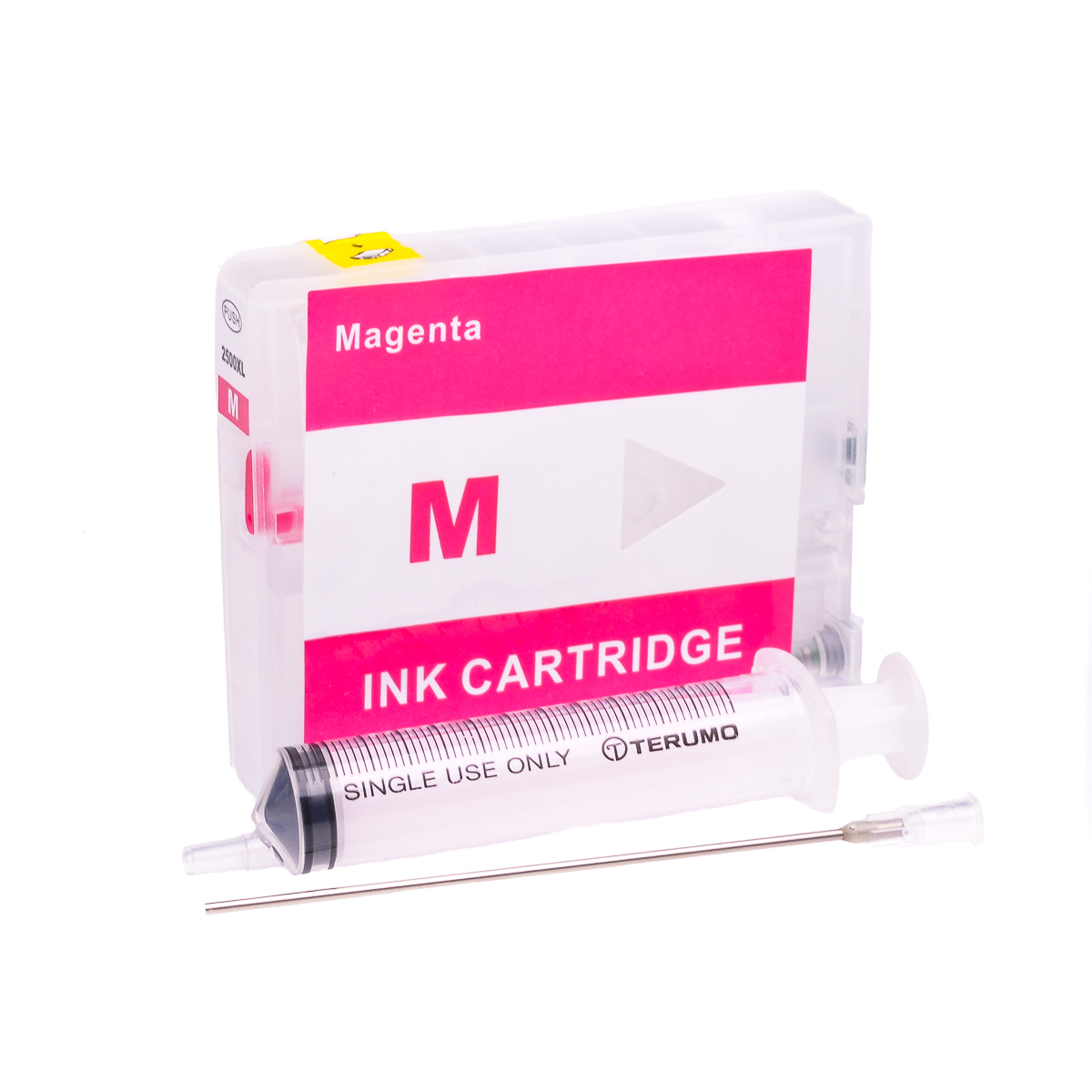 Empty Refillable PGI-2500XL-M Magenta Cheap printer cartridges for Canon MB5050 9275B001AA