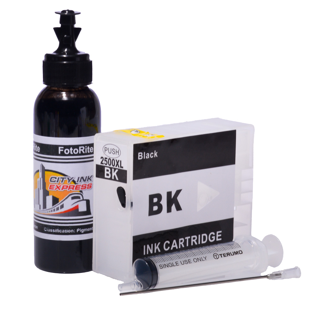 Refillable pigment Cheap printer cartridges for Canon MB5350 9254B001AA PGI-2500XL-BK Black