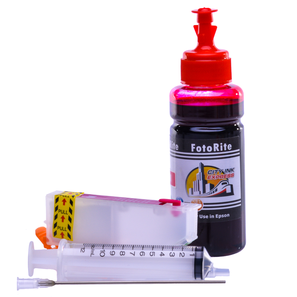 Refillable T3343 Magenta Cheap printer cartridges for Epson XP-540 C13T33434010 dye ink