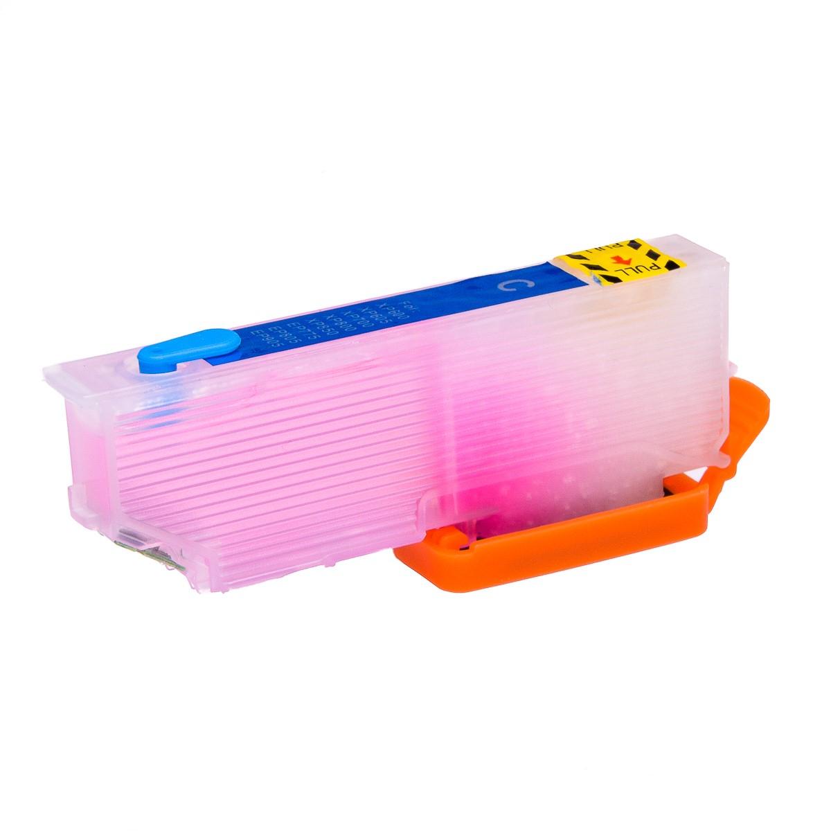 Cyan printhead cleaning cartridge for Epson XP-645 printer