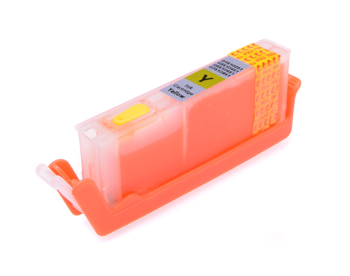 Yellow printhead cleaning cartridge for Canon Pixma MG7750 printer