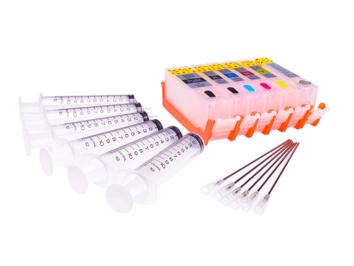 Empty Refillable PGI-580PGBK,CLI-581BK/C/M/Y/PB Multipack Cheap printer cartridges for Canon Pixma TS8351