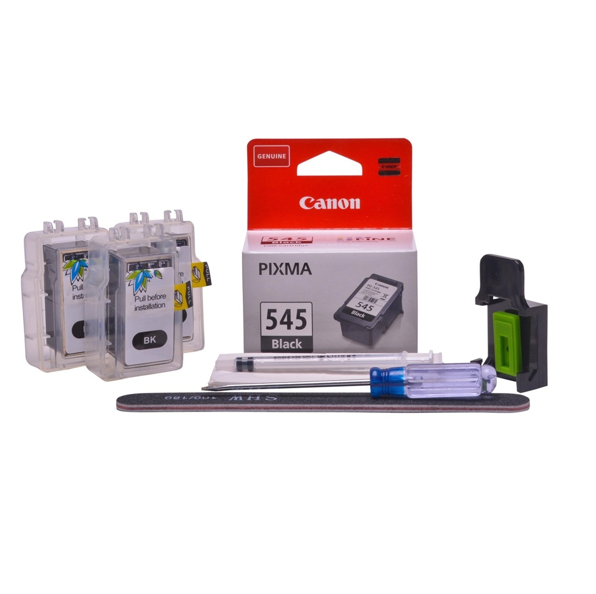 Refillable pigment Cheap printer cartridges for Canon Pixma TS3150 PG-545 PG-545XL Pigment Black