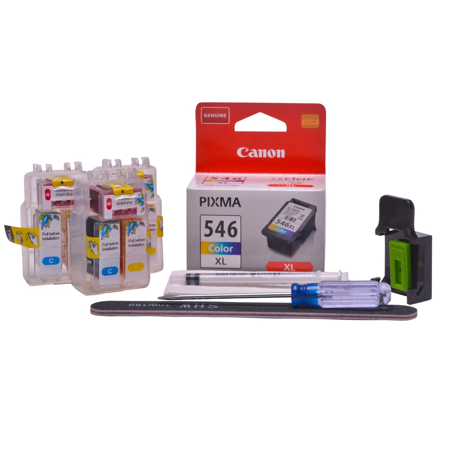 Refillable CL-546XL Colour Pod Cheap printer cartridges for Canon Pixma TS3151 CL-546 dye ink
