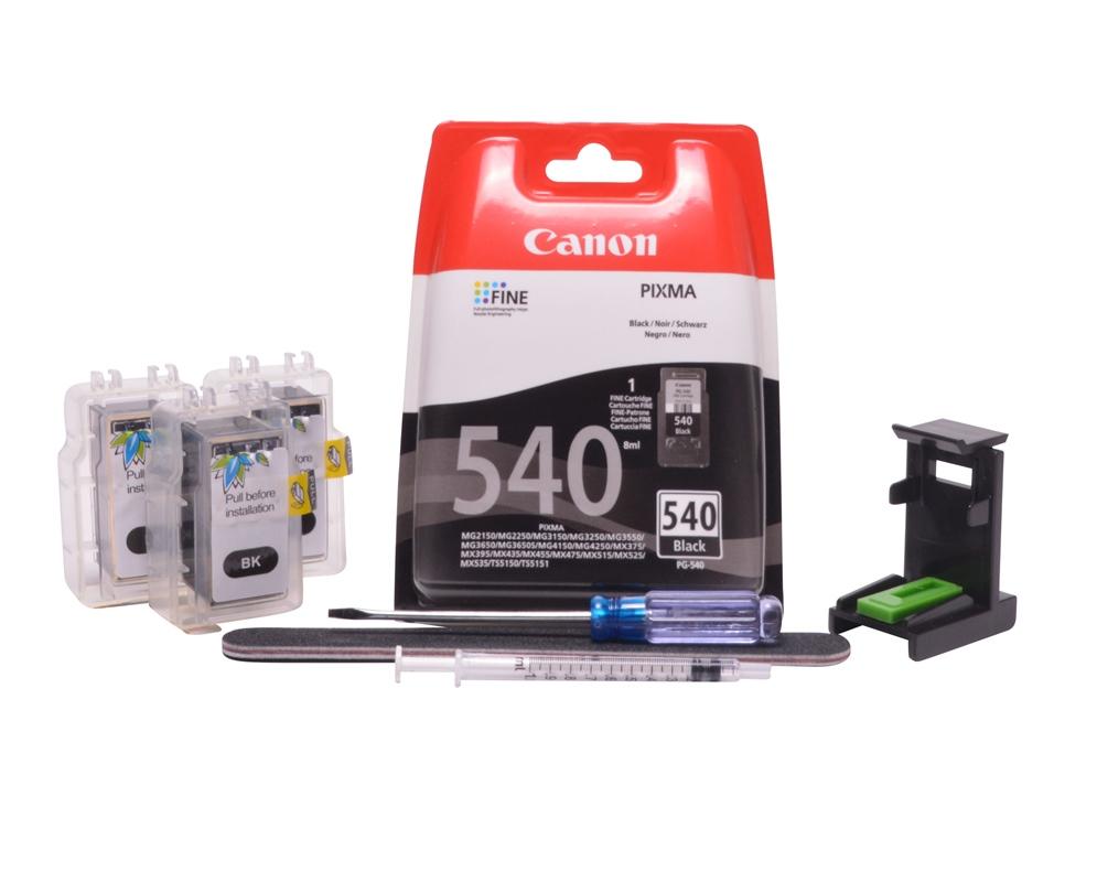 Refillable pigment Cheap printer cartridges for Canon Pixma MX515 PG-540 PG-540XL Pigment Black