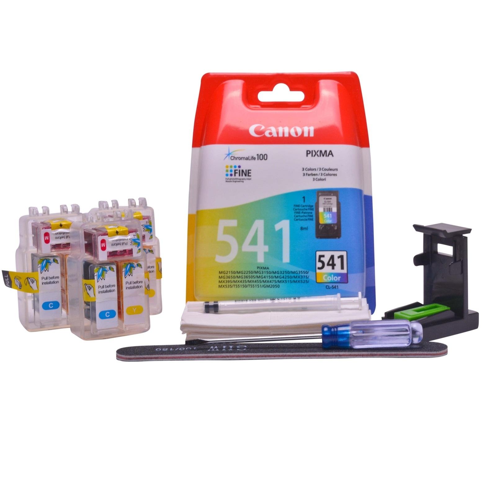 Refillable CL-541XL Colour Pod Cheap printer cartridges for Canon Pixma MG3155 CL-541 dye ink