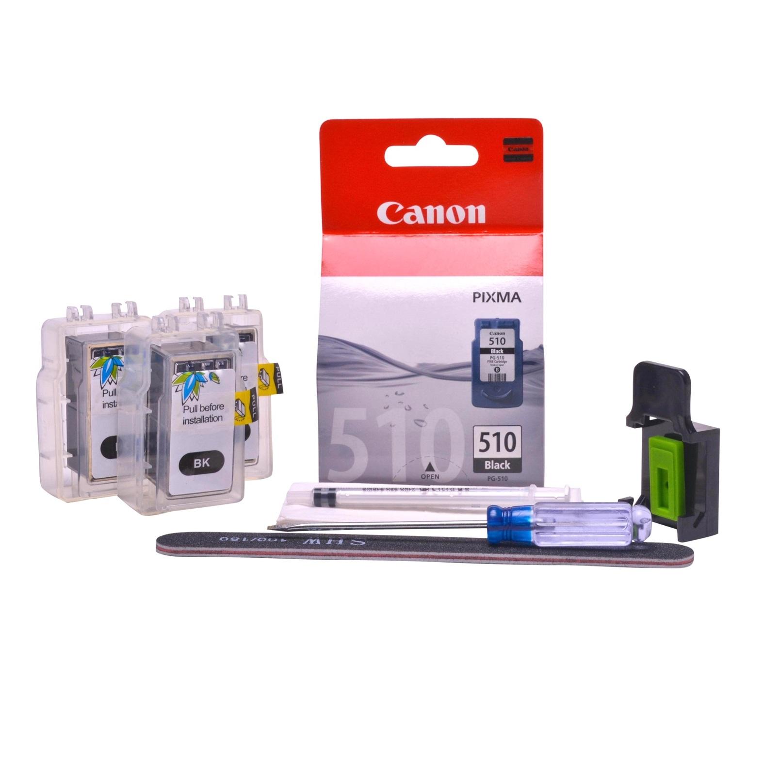 Refillable pigment Cheap printer cartridges for Canon Pixma MP492 PG-510 PG-512 Pigment Black