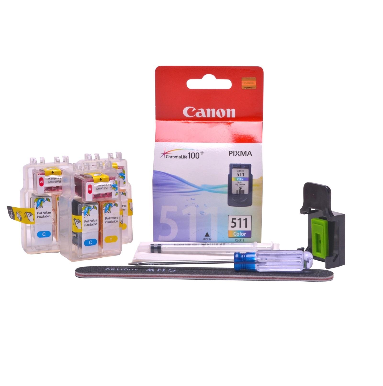 Refillable CL-513 Colour Pod Cheap printer cartridges for Canon Pixma MP240 CL-511 dye ink