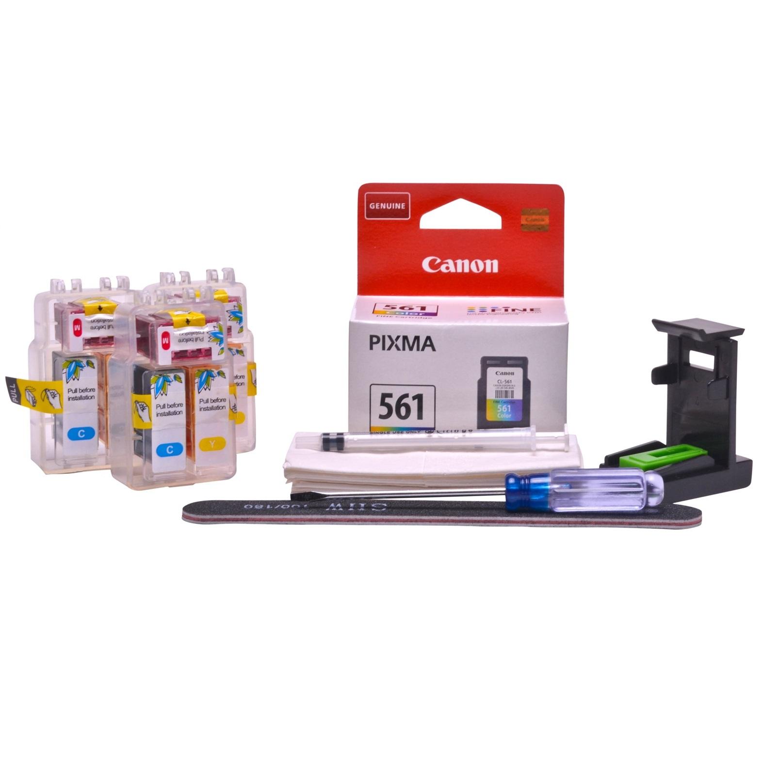 Refillable CL-561 Colour Pod Cheap printer cartridges for Canon Pixma TS5350 CL-561 dye ink