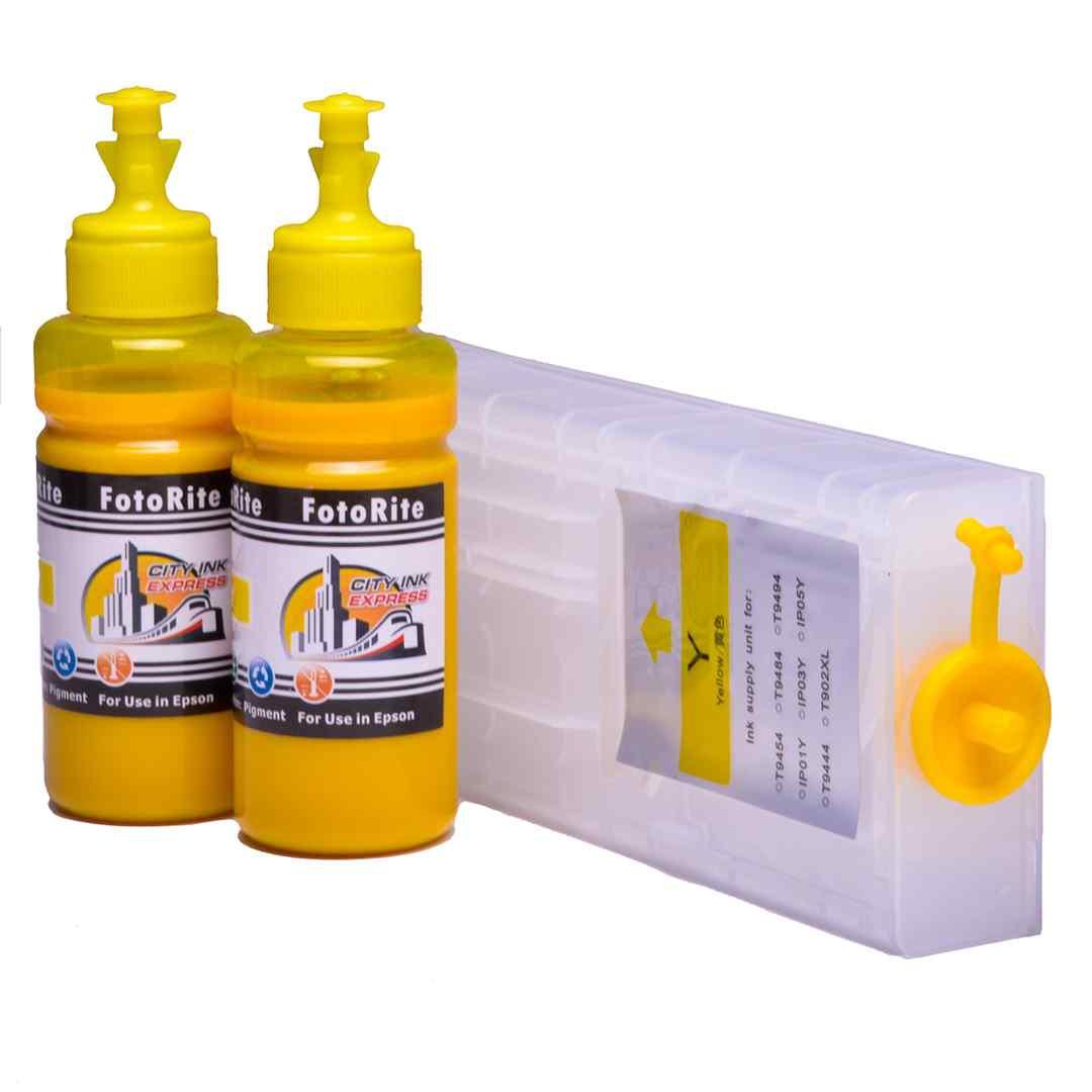 Refillable pigment Cheap printer cartridges for Epson WF-C5790DWF T9454 T9444 Yellow