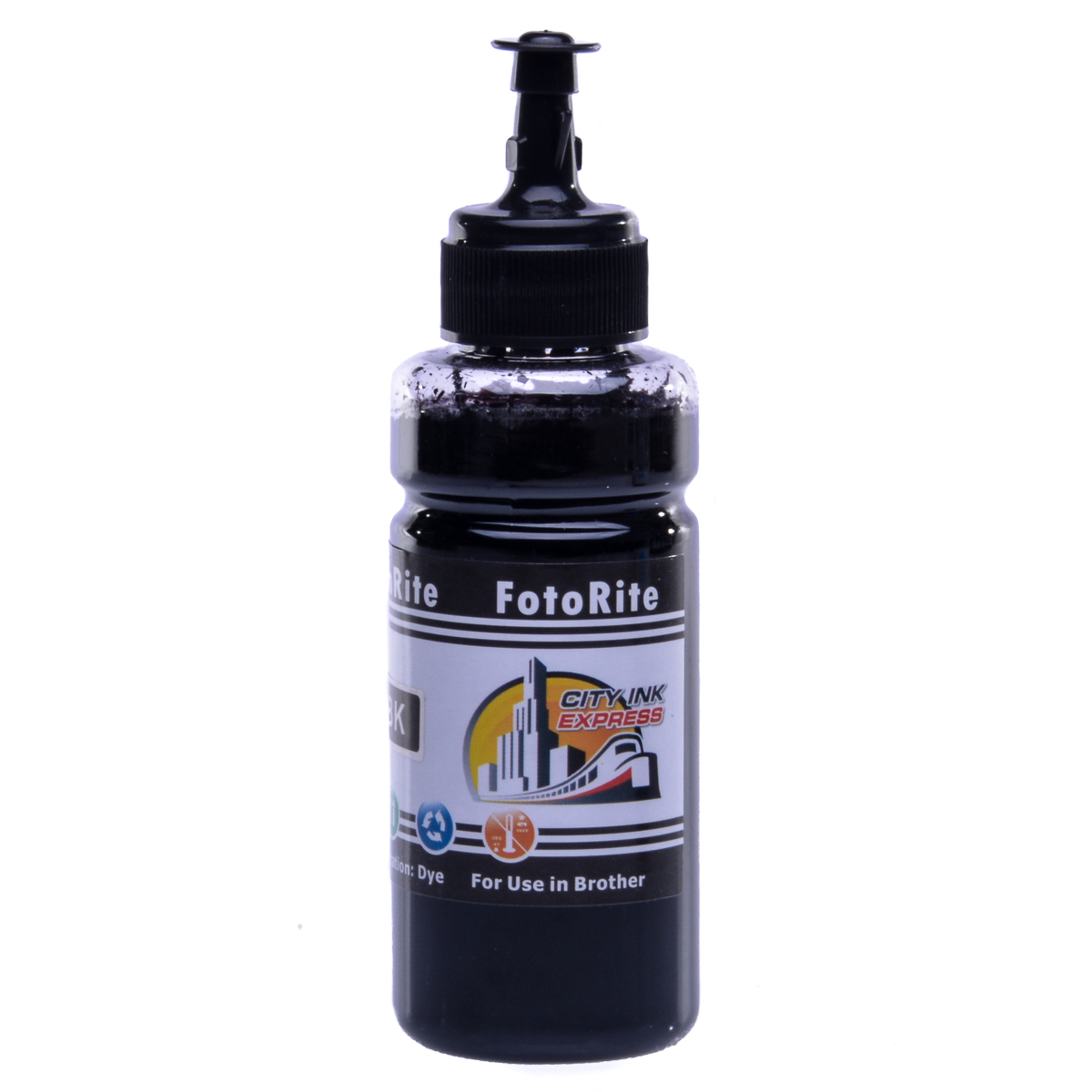 Cheap Black dye ink replaces Brother DCP-J152W - LC123BK,LC125BK,LC127BK