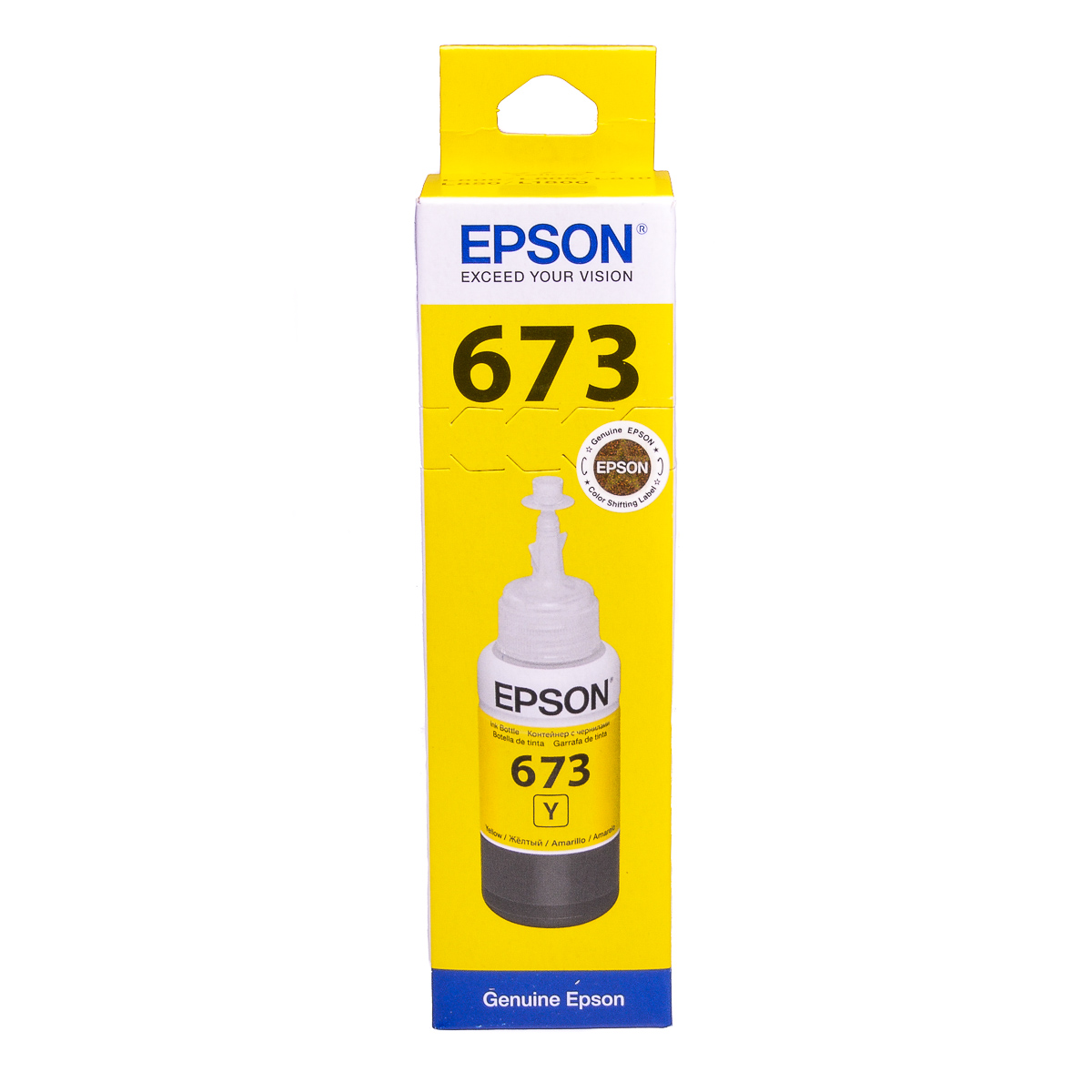 Epson T6734 Yellow original dye ink refill Replaces Stylus RX560