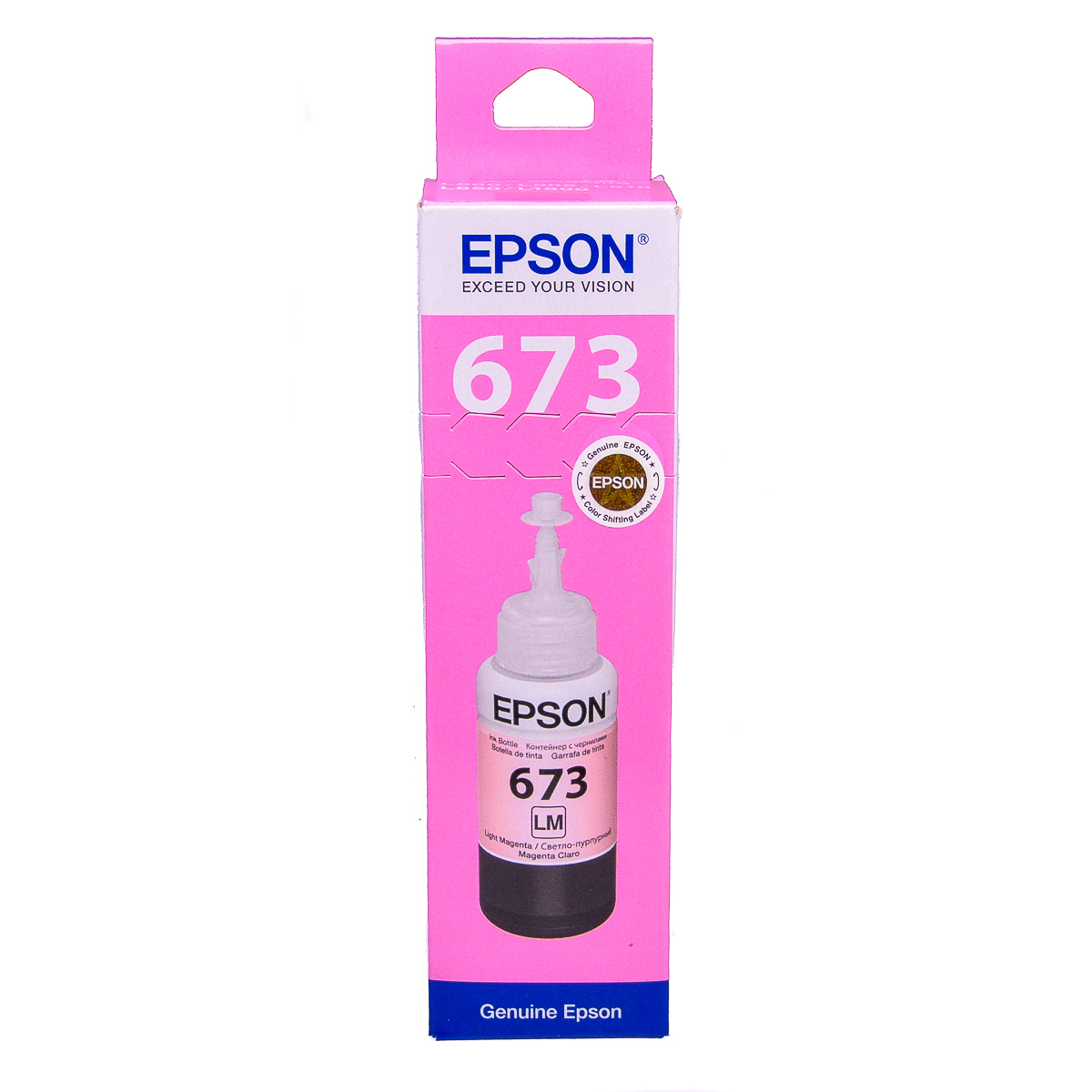 Epson T6736 Light Magenta original dye ink refill Replaces L1800