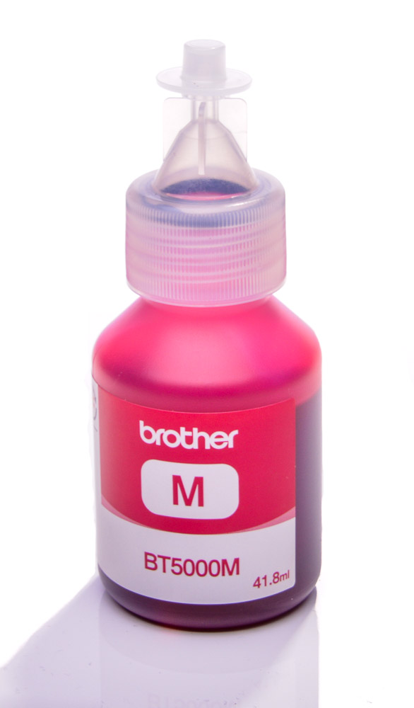 Brother BT5000M Magenta genuine dye ink refill Replaces MFC-J410