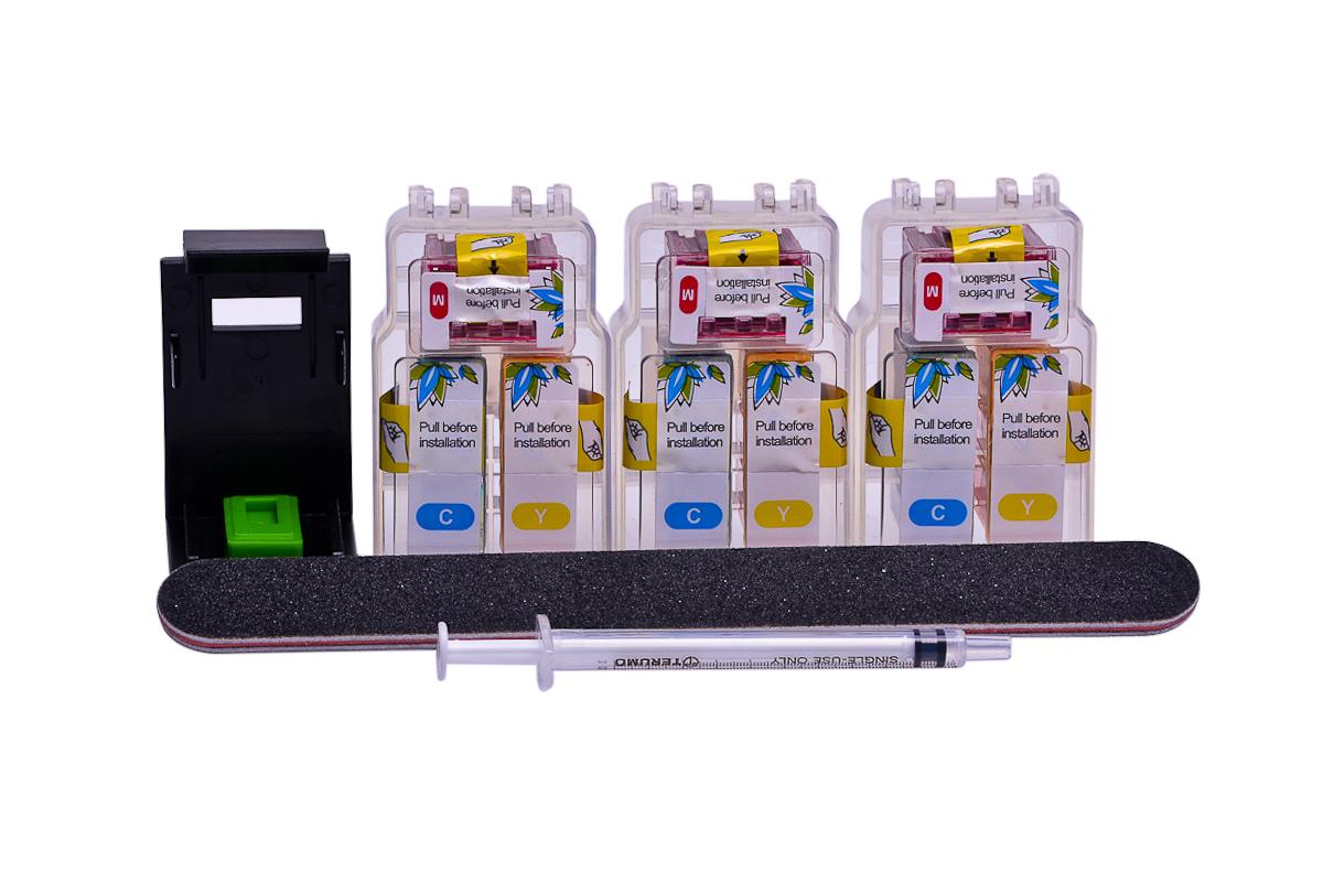 Cheap Colour Pod dye ink replaces Canon Pixma MX495 - CL-546XL x 3 with clip