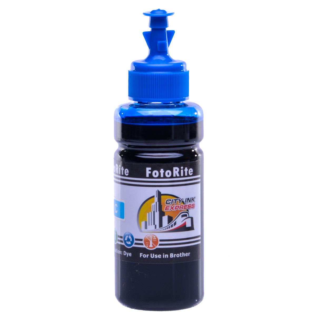 Cheap Cyan dye ink replaces Brother Fax 1560 - LC-1000C