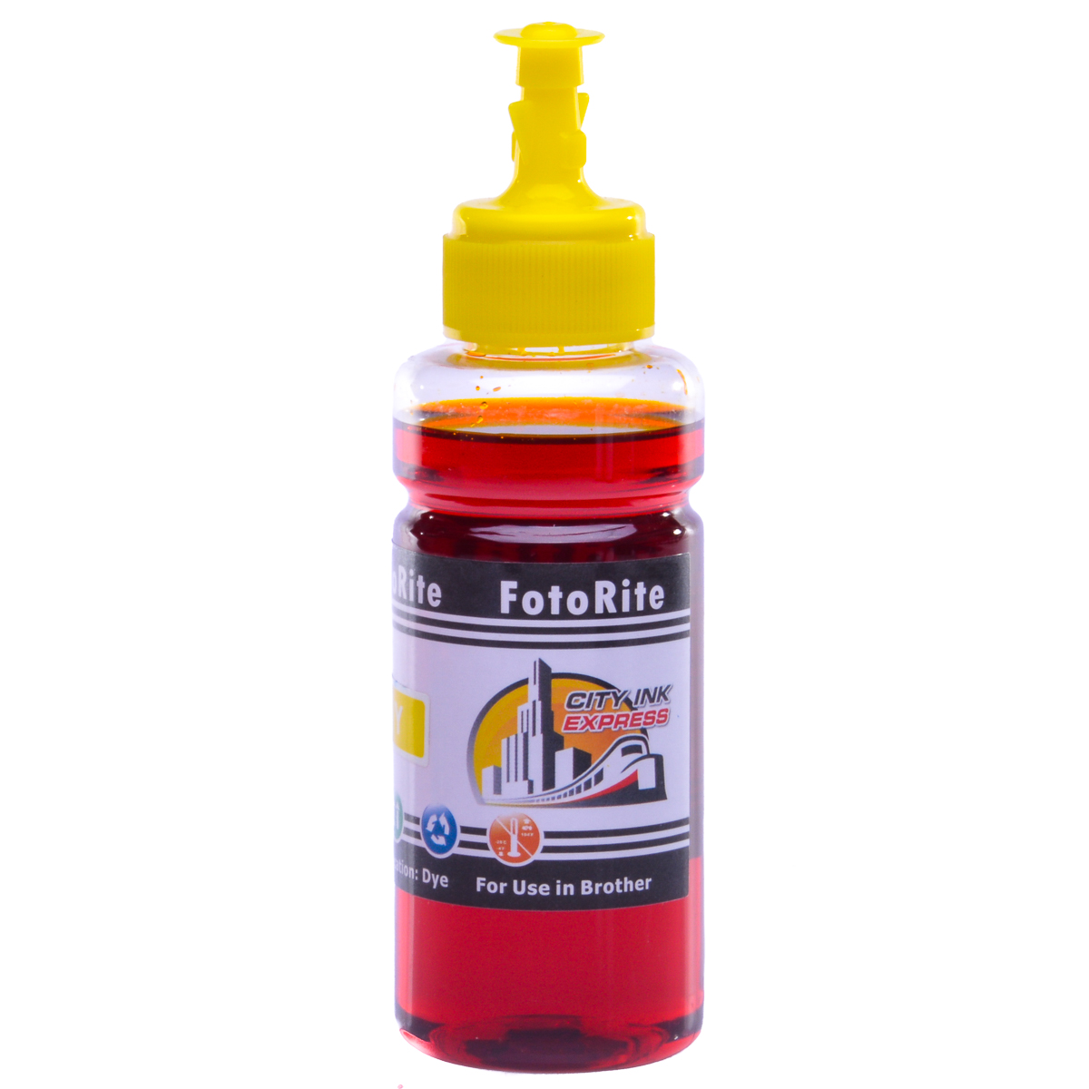 Cheap Yellow dye ink refill replaces Brother DCP-373CW - LC-1100Y