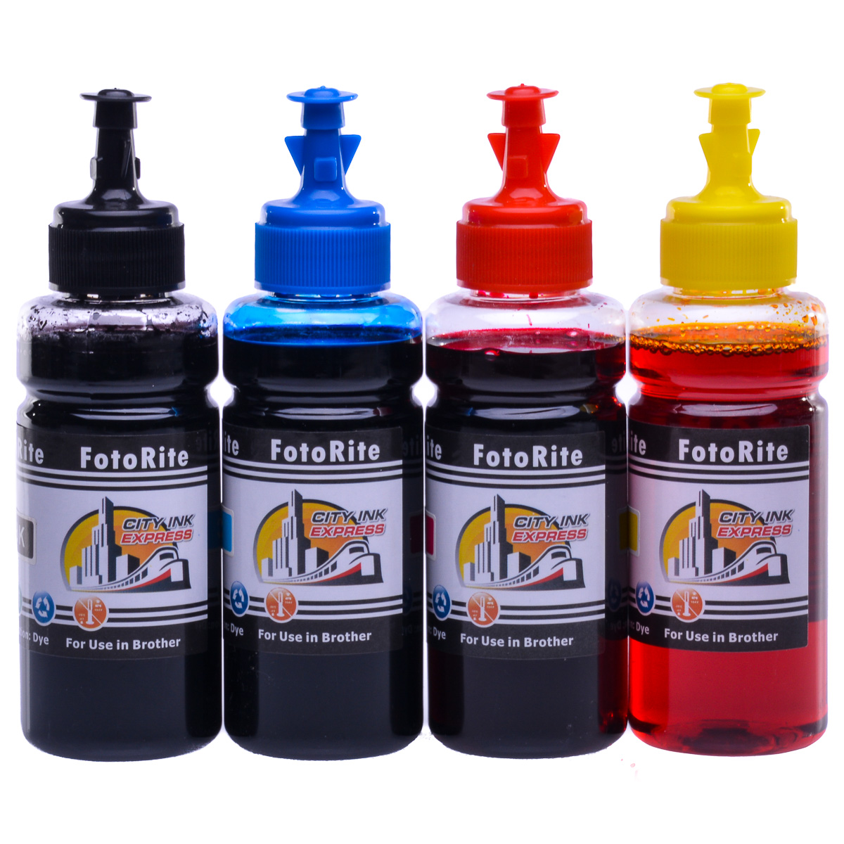 Cheap Multipack dye ink refill replaces Brother DCP-195
