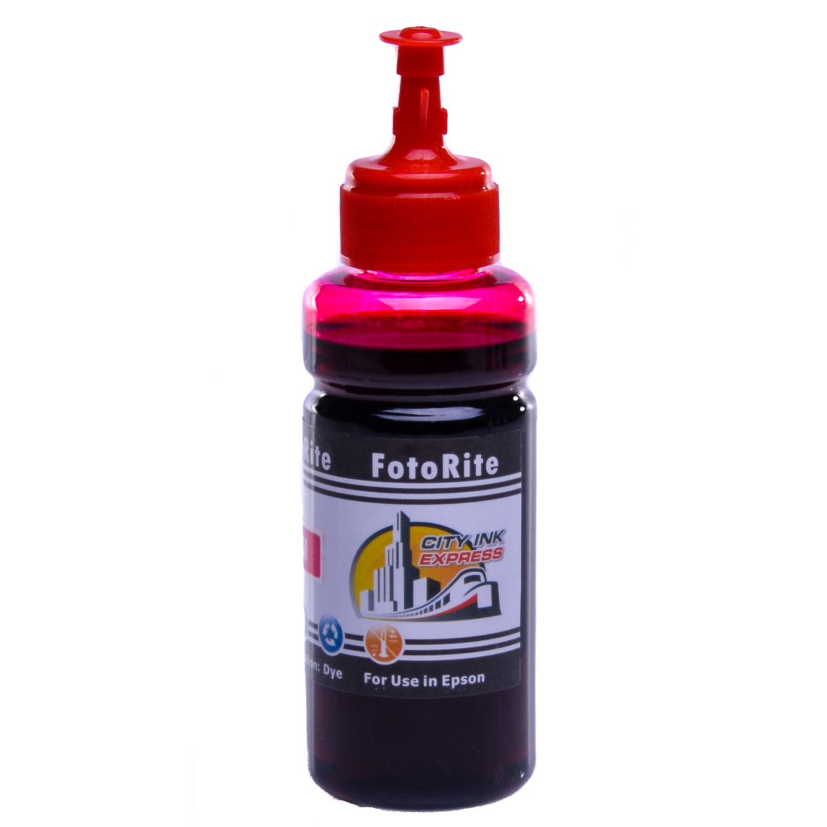 Cheap Magenta dye ink refill replaces Epson Stylus SX438W - T1283