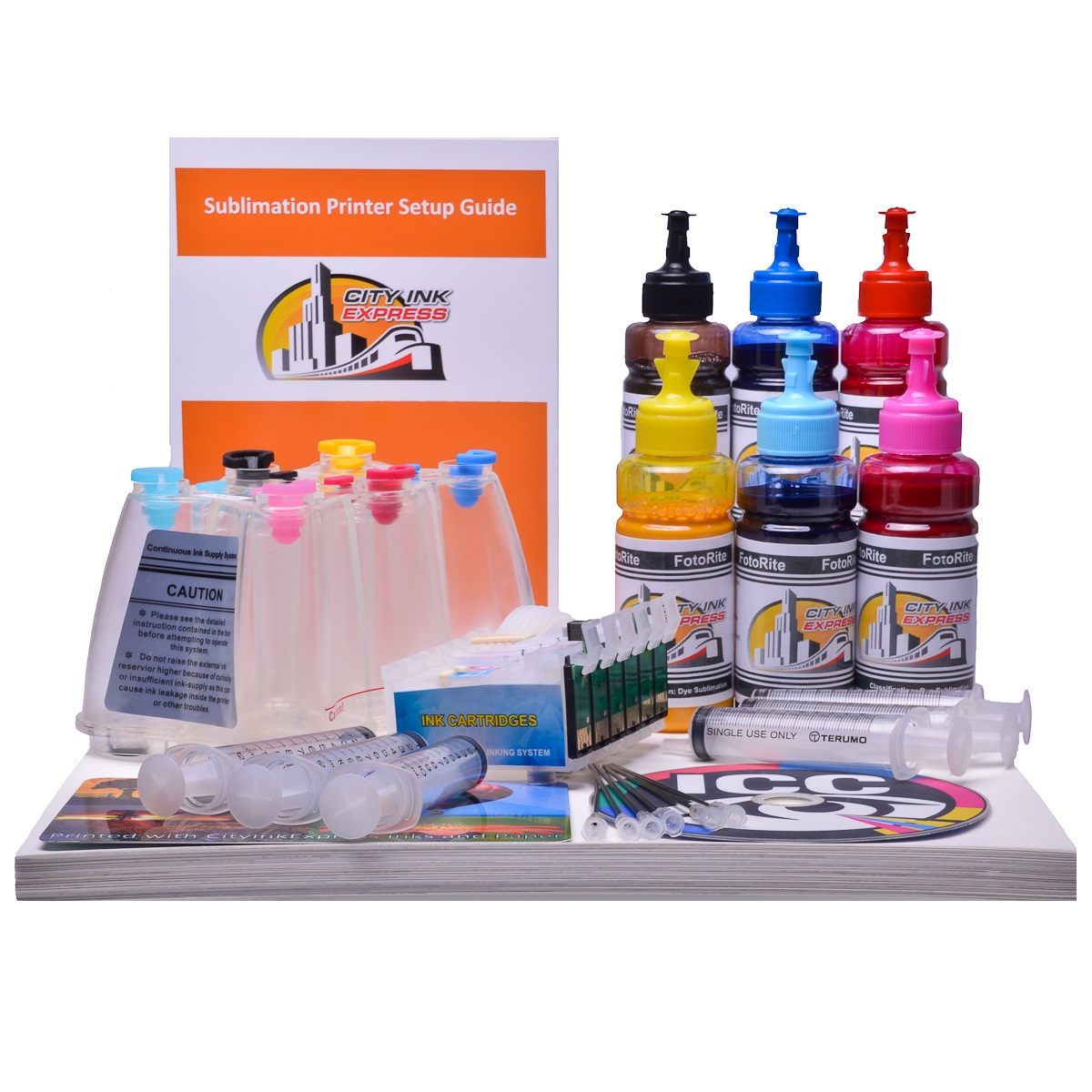 Dye Sublimation Ciss ink system for Epson Photo 1400SP printer