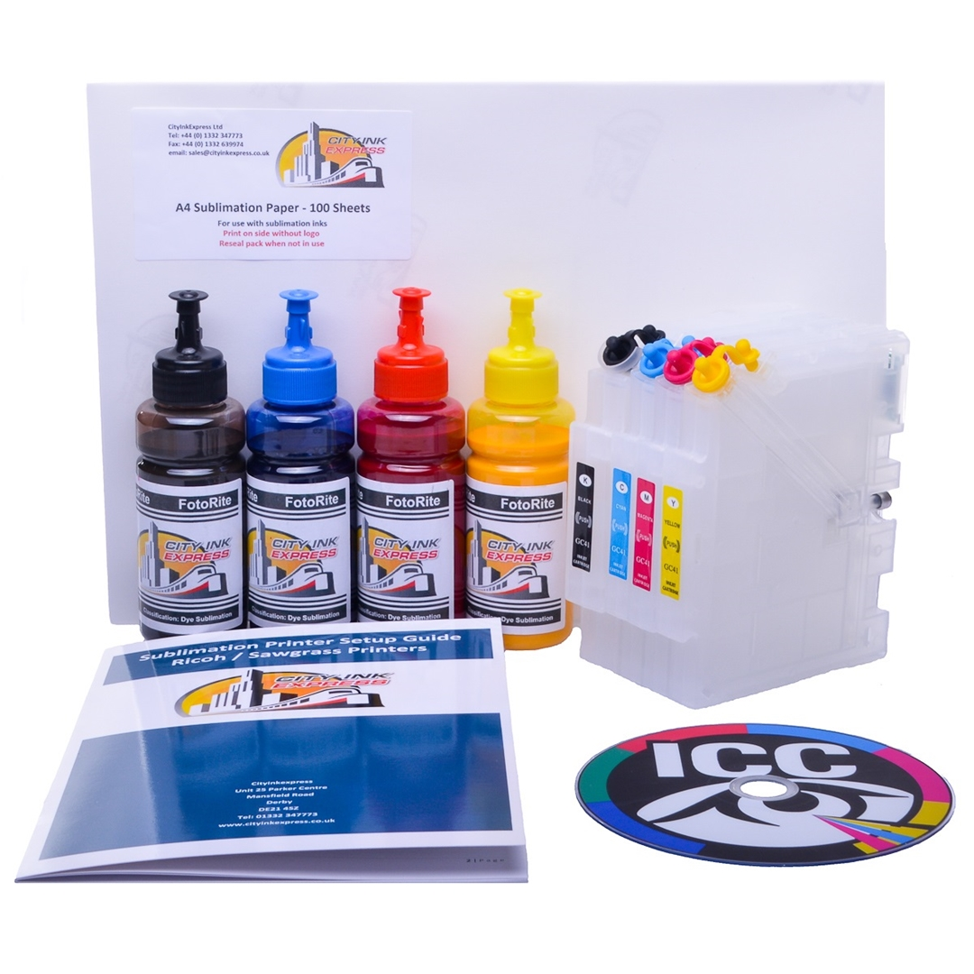 Refillable Sublimation ink cartridge for Ricoh SG3110SFNw printer