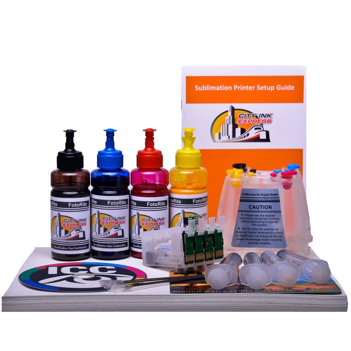 Dye Sublimation Ciss ink system for Epson WF-2830DWF printer