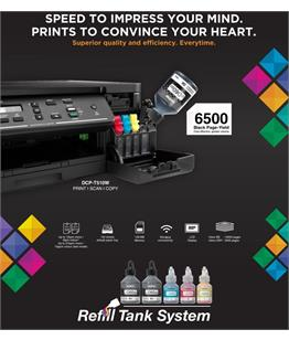 Continuous ink system - printer bundle for the Brother DCP-T510W Refill Tank System - A4 printer