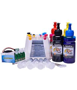 Continuous ink system printer bundle for the Epson XP-3100 or 3105 A4 printer