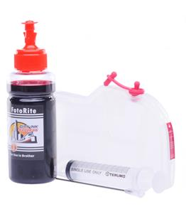 Refillable LC-1100M Magenta Cheap printer cartridges for Brother DCP-195 LC980M dye ink